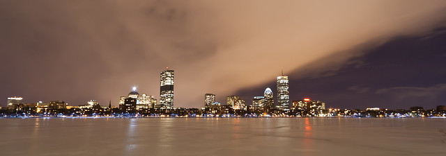 Charles River & Boston Downtown. 1200w.
