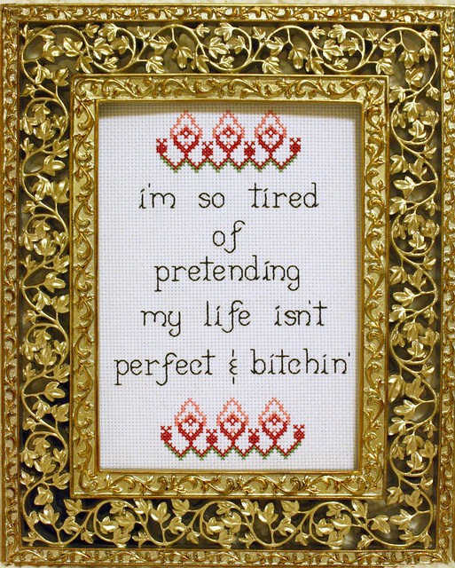 Charlie Sheen cross stitch