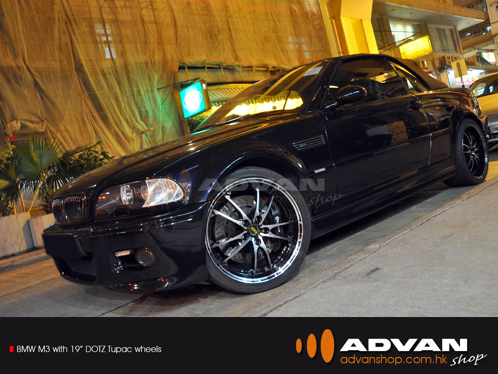 "BMW M3 with 19"" DOTZ Tupac wheels"