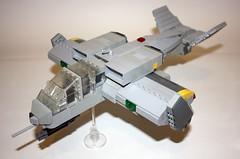 UV03-C Attack Ship (Babalas Shipyards) Tags: ship lego space military air attack scifi concept vtol interdictor