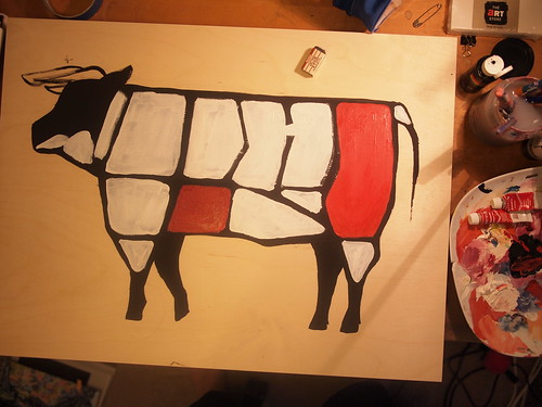 cow butchery diagram .... in progress