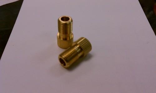 Brass presta and dunlop to schrader valve adapters