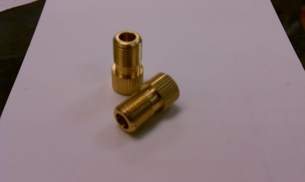 Brass presta and dunlop to schrader valve adapters