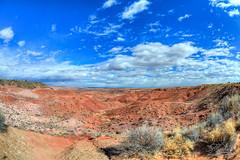 Petrified Forrest - Canyon (CMitchell Photo) Tags: arizona landscape nikon fisheye chuck mitchell hdr chuckmitchell tonemapped landscapehdr petrifiedforrestnationalpark nikond3s