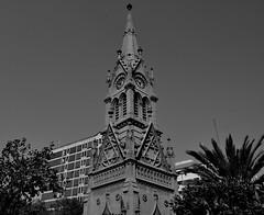 Merewether Clock Tower (nida.) Tags: blackandwhite landmark clocktower palmtree karachi starofdavid freemasons colonialheritage