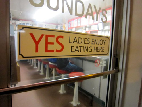 Yes Ladies Enjoy Eating Here