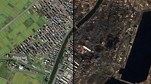 Le séisme japonais sur Google Maps
