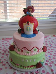 "Strawberry shortcake birthday cake • <a style=""font-size:0.8em;"" href=""http://www.flickr.com/photos/60584691@N02/5524762881/"" target=""_blank"">View on Flickr</a>"