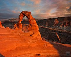 Delicate Dreams - Delicate Arch, Arches National Park, Utah (david.richter) Tags: light sunset shadow usa sun southwest monument nature rock clouds canon landscape outdoors photography eos rebel utah twilight ancient sandstone rocks warm raw glow desert outdoor dusk unitedstatesofamerica fake formation np archesnationalpark nationalparks delicatearch xsi trickery noshame photoshopmagic guiltyascharged noclouds ishootraw exposureblend davidrichter 450d rebelxsi tokina1116mmf28atx116prodx crockpotnation formedbywaterandwind cloudrecycling noicantshowyoutherawfile