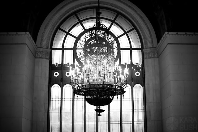 Park Plaza Wedding chandelier