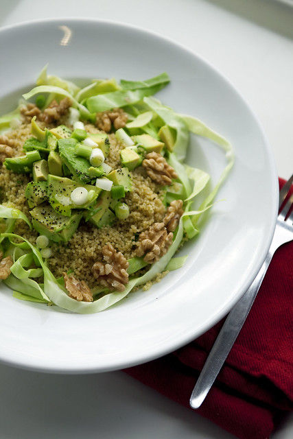 Pointed Cabbage, Avocado and Couscous