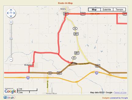 66 route google maps Route 66
