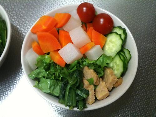 朝食サラダ(2011/3/21)