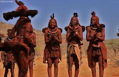 1164=POBLADO HIMBA, EPUPA, NAM. (rweisswald) Tags: africa people dance african culture tribal safari afrika tribe ethnic namibia tribo himba afrique ethnology tribu namibie tribus ethnie