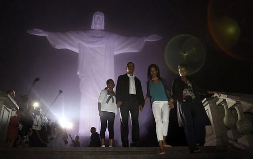 Obama Family in Rio de Janeiro