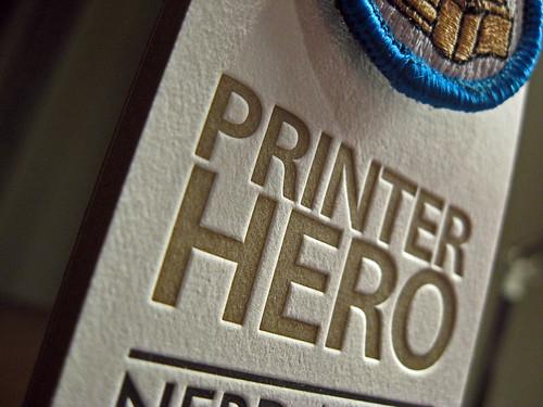 Nerd Merit Badges Letterpress Cards