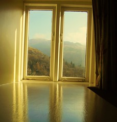 What light through yonder window breaks. (Wainwright Warrior) Tags: light sky window paint lakes hills cumbria curtains helmcrag stonearther