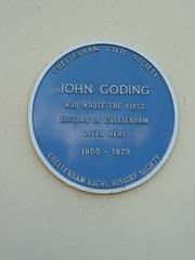 Photo of John Goding blue plaque