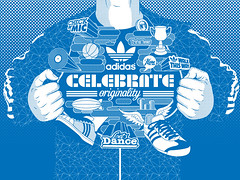 Adidas Celebrate Originality (Victor Ortiz - iconblast.com) Tags: life music southamerica colors illustration print design graphics colorful colombia europe message graphic skateboarding live awesome positive adidas celebrate diseo camiseta medellin apparel artdirection originality victorortiz iconblast