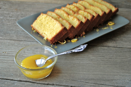 Lemon Pound Cake, Lemon Curd: A twist on the citrus classics