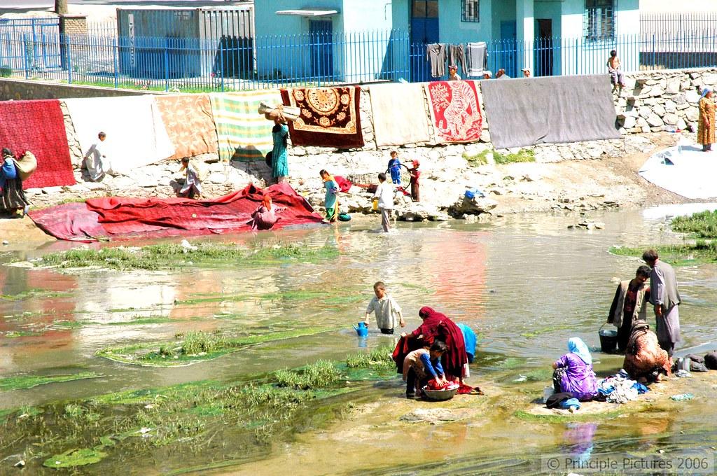 Kabul River Washing