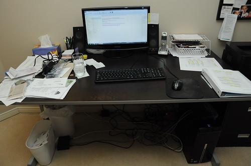 Organized Desk - Before