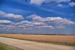 Early Spring in Illinois Farm Country (kendoman26) Tags: road blue sky clouds rural illinois kodak farmland z915 kodakz915