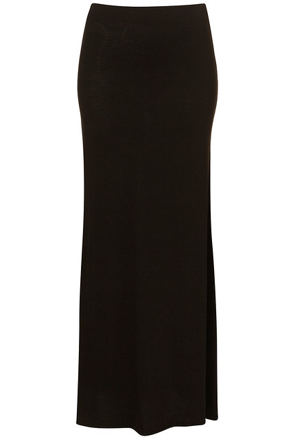 Topshop_Black Basic Maxi Skirt