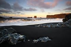 Dyrholaey (Kenny Muir) Tags: seascape black beach sunrise landscape lava iceland kap volcanic dyrhlaey