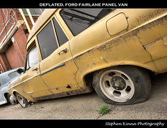 Deflated (Stephen Kinna Photography) Tags: old urban cars ford abandoned car neglect rust panel flat neglected rusty tint rover victoria forgotten rusted van tinted hdr tyres fairlane panelvan deflated urbex vandalised