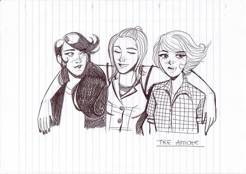 tre amiche
