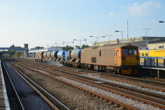 3W75 73212 TnT 73128 Tonbridge Yard - Tonbridge Yard Via London Victoria (Adam McMillan Railway Photography) Tags: as well oprating vstp required paths gb railfreight operate booked 3w7475 that runs 7 days week from tonbridge yard covers whole kent on tuesday 4th october saw 73212 tnt 73128 take control working have done since sunday 2nd