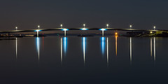 Fot Bridge (diesmali) Tags: cker vstragtalandsln sweden hn fot bridge bro night lights reflection water ocean sea islands archipelago street canoneos6d canonef24105mmf4lisusm