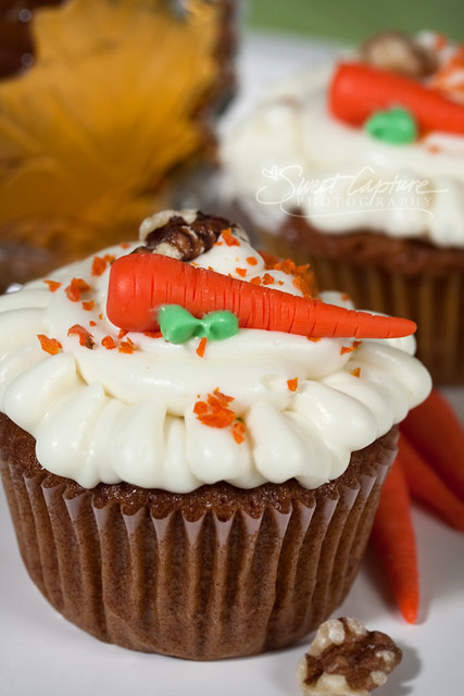 Carrot Cake Cupcakes with Maple Frosting