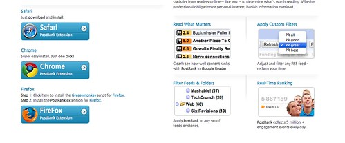 Google Reader Extenstion - PostRank