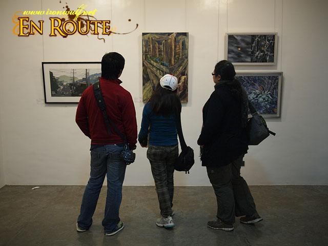 Lakbay Norte 2 Participants viewing the Art Pieces at BenCab Museum