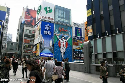 Cartel Glico de día Osaka