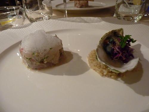 Tartare de bar et d'huître