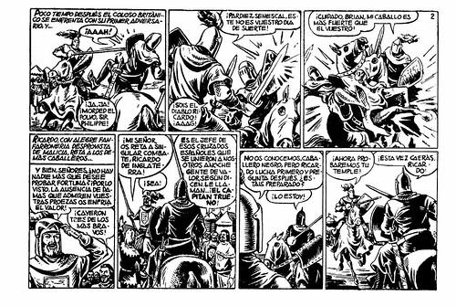 028-El capitan trueno nº 1-pagina 2ª- 1956