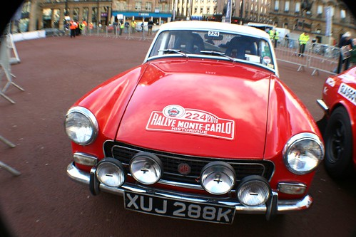 Classic MG Motor Car at George Square, Glasgow