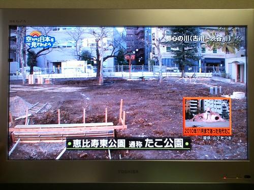 「空から日本を見てみよう」で私の撮影したたこ公園の写真を使って頂きました。あとでブログる!