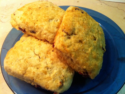 Maple Oat Scones with Cranberries