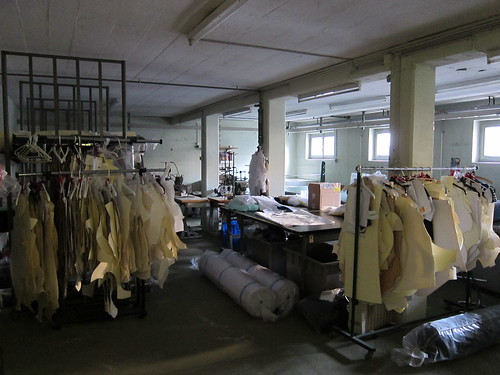 The basement -- where cutting & sewing happened a long time ago
