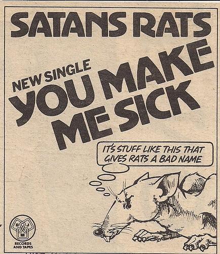 04/28/78 NME AD - Satan's Rats
