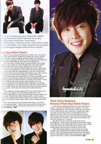 Kim Hyun Joong My Idol Indonesian Magazine 85th Edition