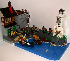 The pirates are here! (pif500) Tags: port lego pirate moc pillage