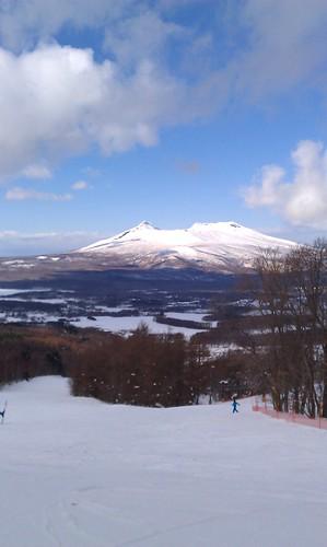 スキー場から山