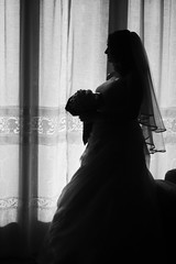 wishing and hoping (*ameLIE*) Tags: wedding portrait bw white black beauty happy photo day dress marriage happiness amelie emotions felice bianco nero matrimonio sposa abito bellezza wishing elegance sposi moglie giorno hoping felicit eleganza emozione sperare sposare sposarsi nicefeelings