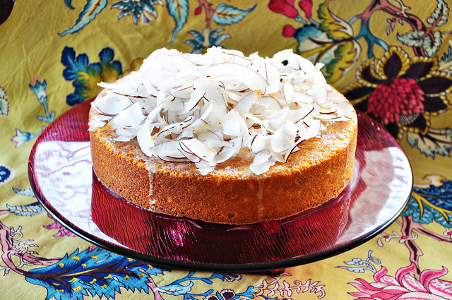 Coconut Lime Rum Cake