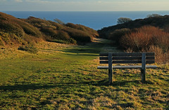 Seat with a view! (Susan SRS) Tags: uk england sussex gb seaford southdowns seafordhead cuckmerevalley img9745 platinumpeaceaward seafordheadnaturereserve
